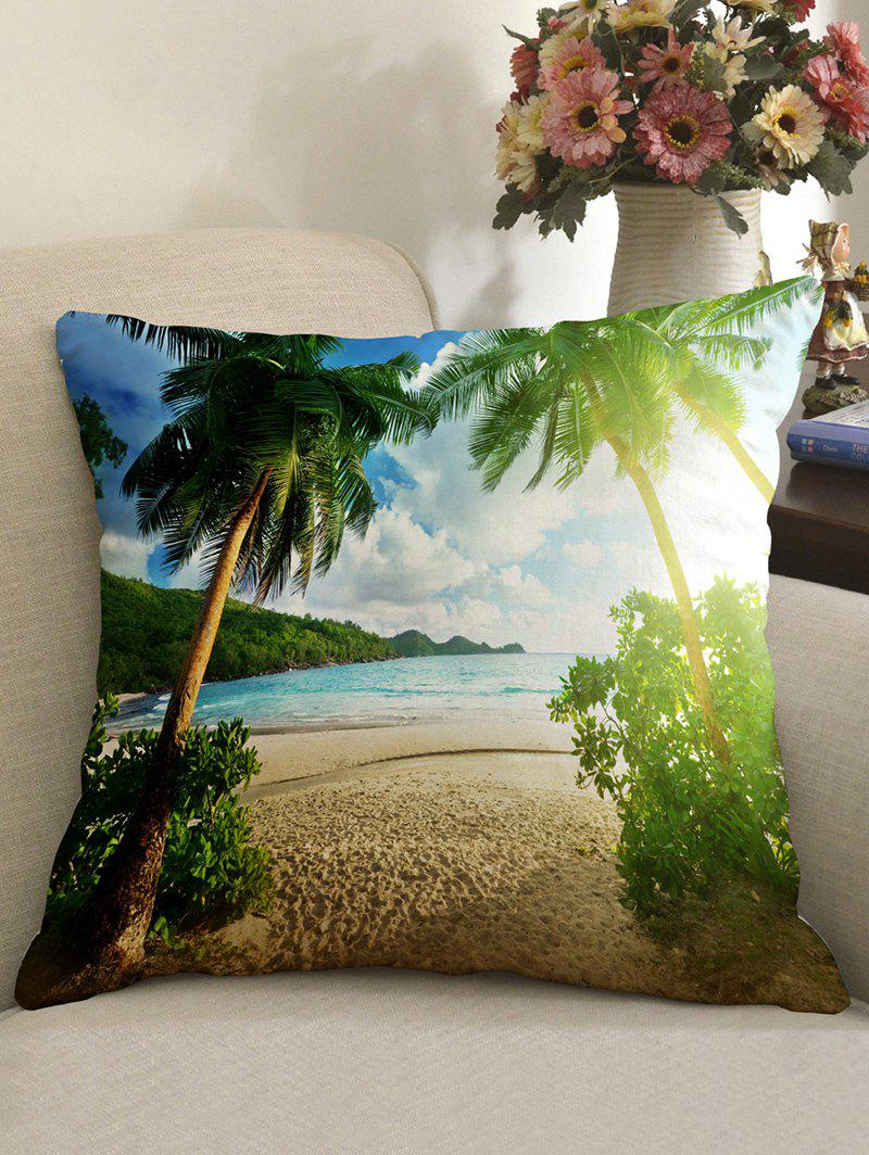 Best Palm Tree Beach Pattern Decorative Linen Sofa Pillowcase