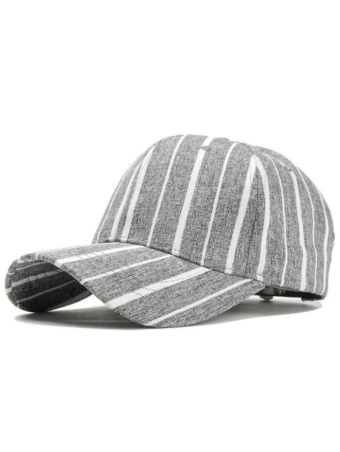 Fashion Simple Stripe Pattern Adjustable Sunscreen Hat