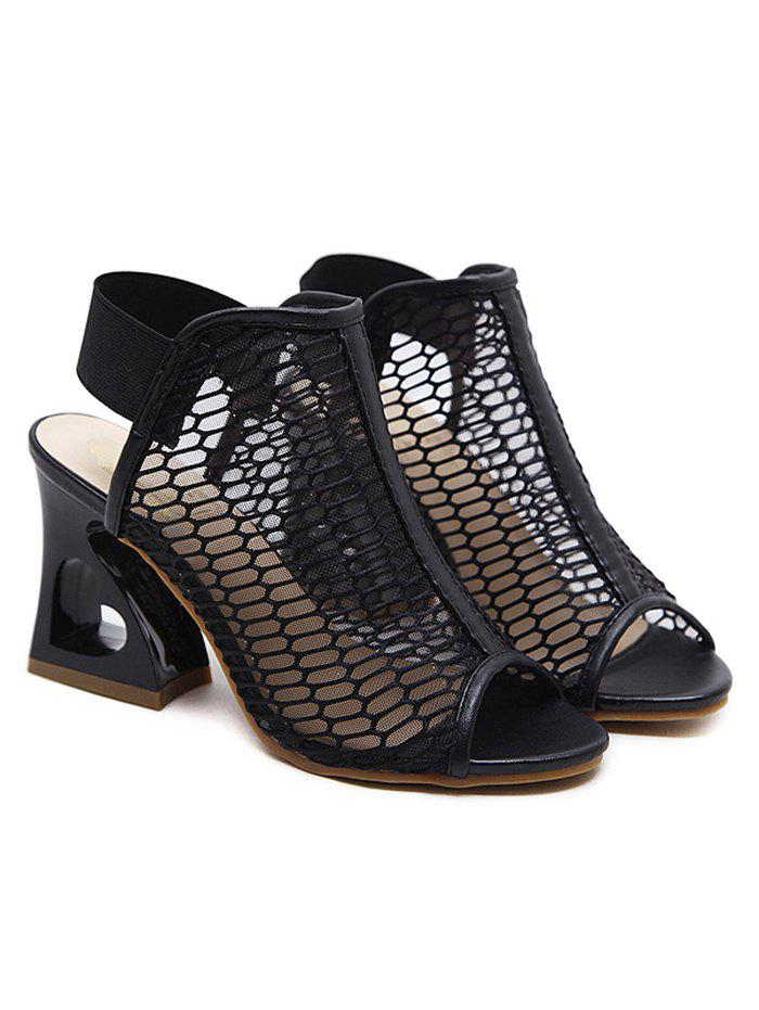 Best Heart Strange Heel Bootie Sandals