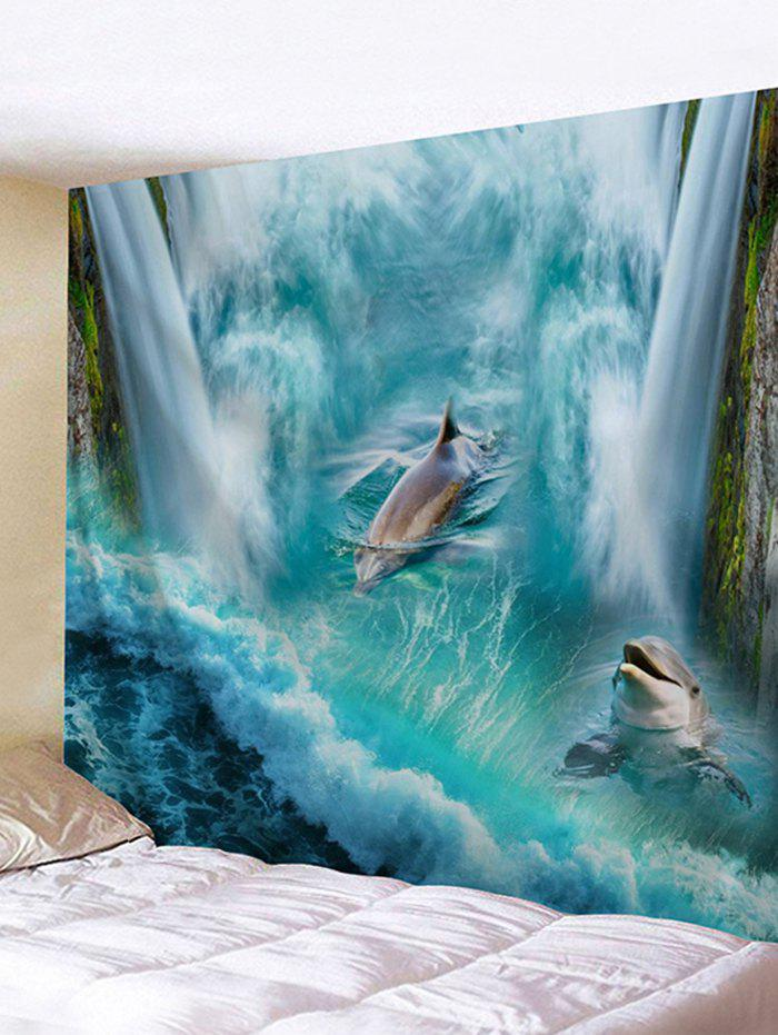 New 3D Waterfall Dolphin Print Wall Hanging Tapestry