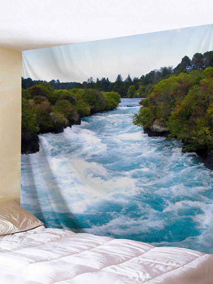 Unique Rushing River Print Tapestry