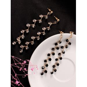 Artificial Crystal Branch Earrings -
