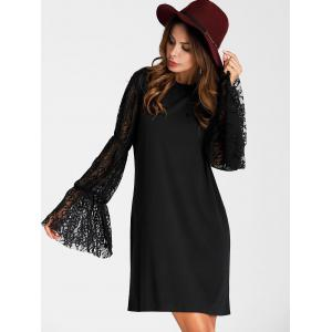 Flare Sleeve Mini Straight Dress -