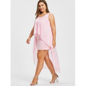 Plus Size Sleeveless Flyaway Dress -