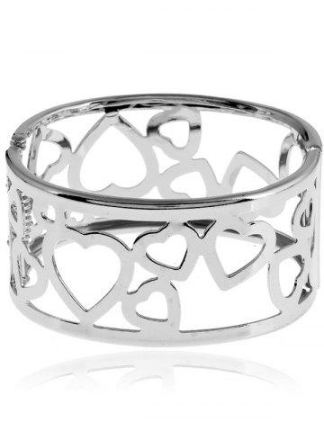 Outfits Metal Heart Bangle Bracelet