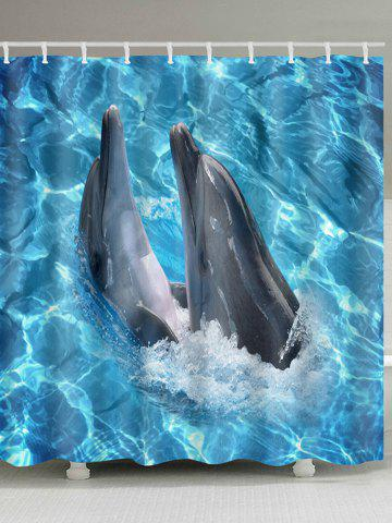 Shop Dophins Playing Print Waterproof Shower Curtain