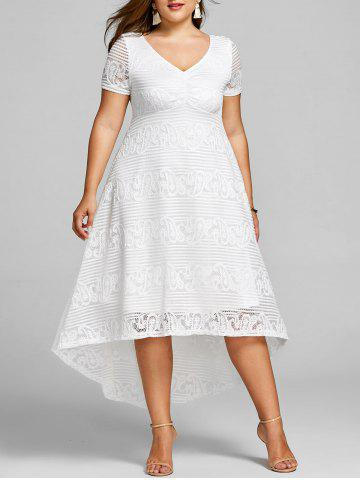 Online Plus Size Asymmetrical Midi Evening Dress