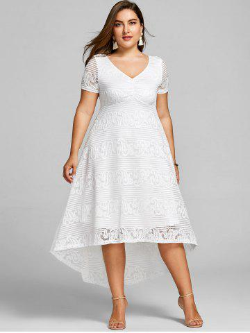 Plus Size Casual Day Dresses Skater Floral Maxi Sale Online