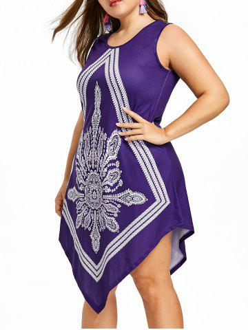 Sale Bohemian Plus Size Beach Handkerchief Dress