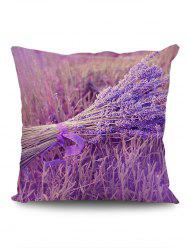 A Bunch of Lavender Print Square Pillow Case -