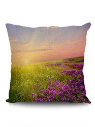 Lavender Fields Sunshine Print Pillow Case -