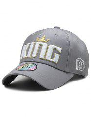 Crown Embroidery Adjustable Baseball Cap -