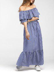 Tartan Flounce Maxi Dress -