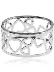 Metal Heart Bangle Bracelet -