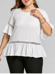 Bell Sleeve Plus Size Flounce Blouse -
