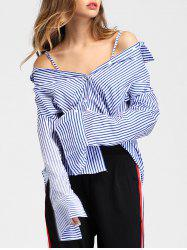 Long Sleeve Vertical Stripe Shirt -