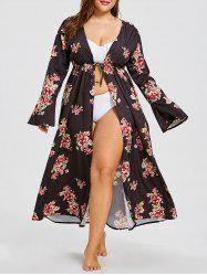 Plus Size Long Sleeve Cover-up Cardigan -