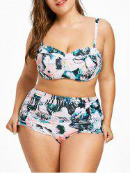 Tropical Plus Size Underwire High-Rise Bikini -