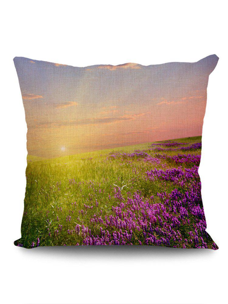 New Lavender Fields Sunshine Print Pillow Case