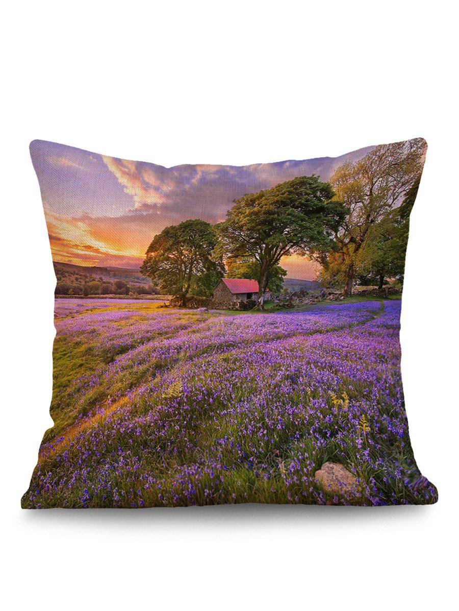 Online Lavender Tree Cabin Print Pillow Case Cover