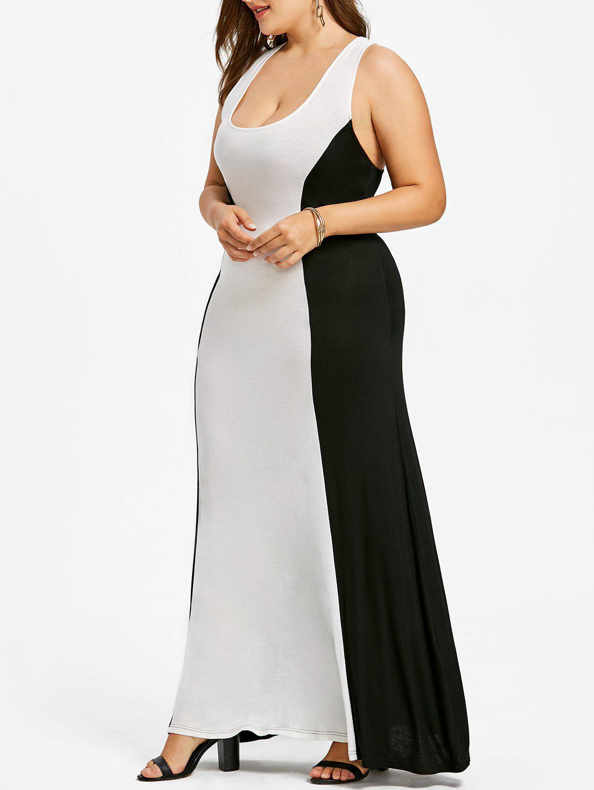 Shops Plus Size Two Tone Long Evening Dress