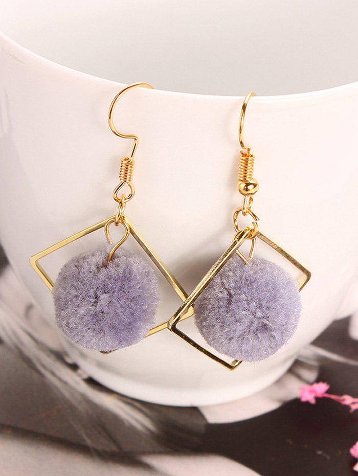 Hot Hair Ball Hollow Square Dangle Earrings