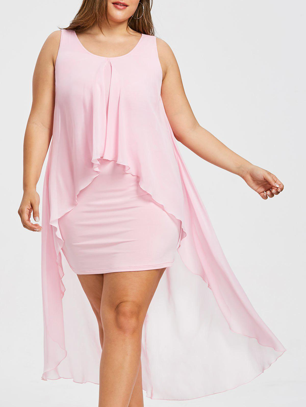 Outfits Plus Size Sleeveless Flyaway Dress