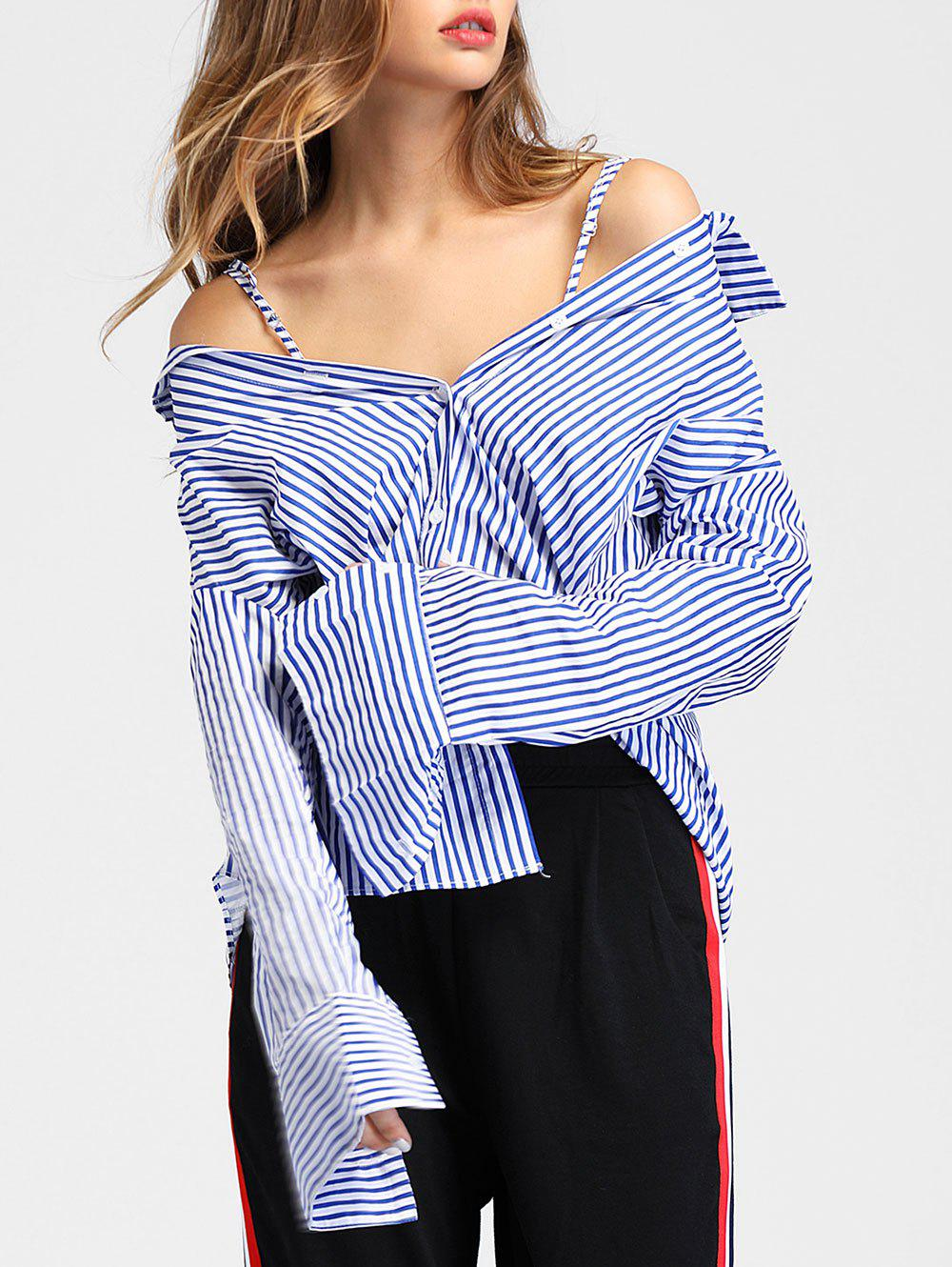 Affordable Long Sleeve Vertical Stripe Shirt