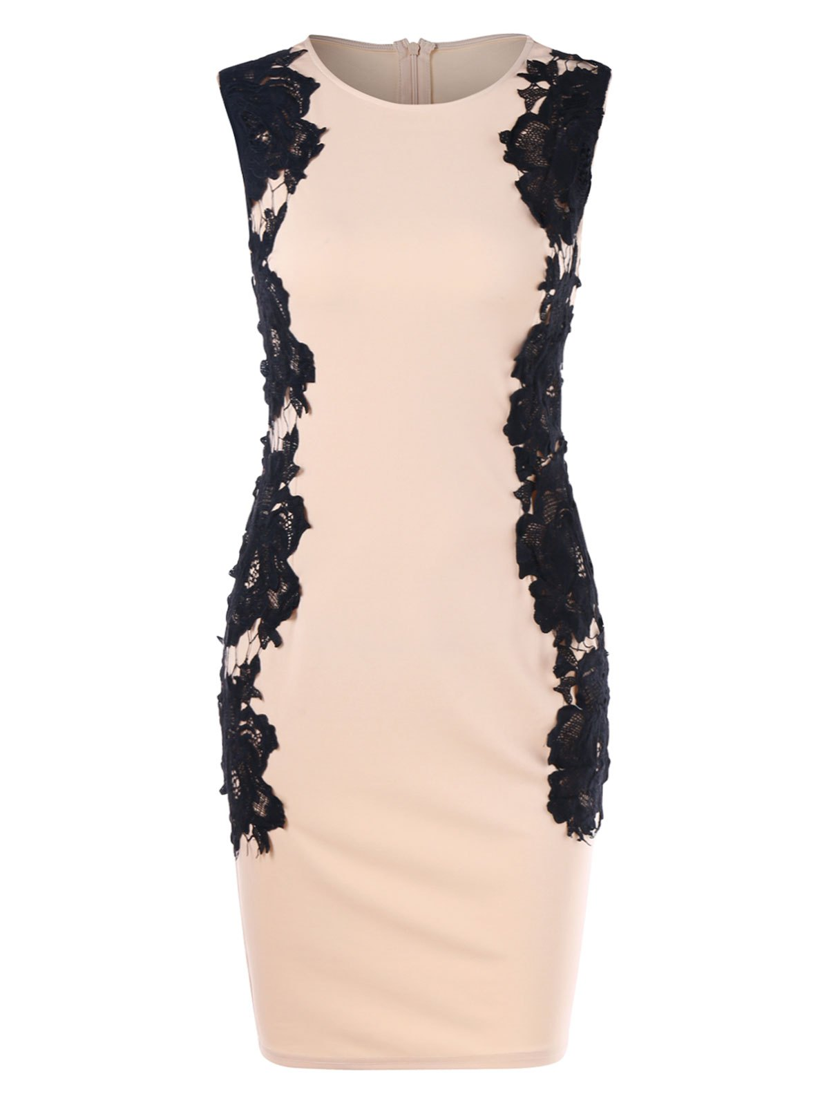 Shop Lace Panel Sleeveless Bodycon Dress