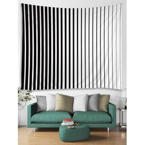 Two Tone Stripe Print Tapestry Wall Hanging Decor -