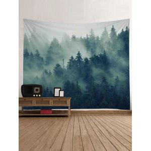 Forest Morning Mist Print Wall Art Tapestry -