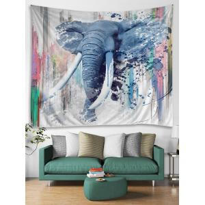 Walking Elephant Print Wall Hanging Tapestry -