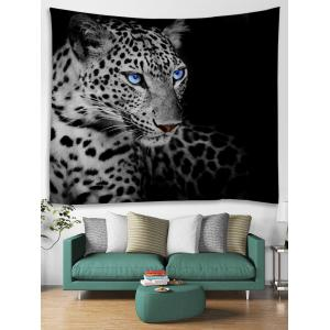 Resting Leopard Print Tapestry Wall Hanging Art -