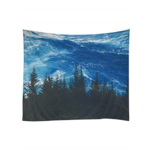 Sea Forest Printed Wall Hanging Art Tapestry -