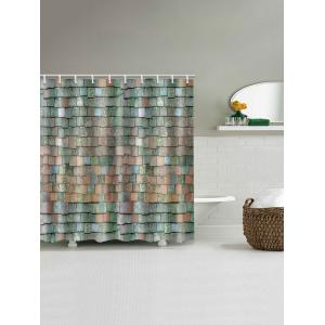 Brick Wall Printed Waterproof Bath Curtain -