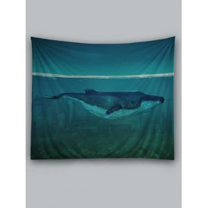 Sea Cetacean Print Wall Art Tapestry -
