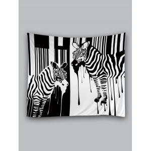Two Zebras Print Wall Hanging Art Tapestry -