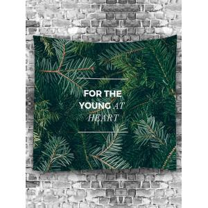 Letter Pine Needle Printed Wall Hanging Art Tapestry -