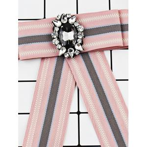 Striped Pattern Faux Gem Party Wedding Brooch -