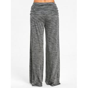 Ruched Waisted Wide Leg Pants -