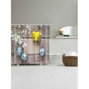 Easter Board Egg Printed Showerproof Bath Curtain -