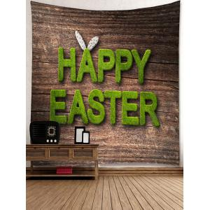 Happy Easter Letters Printed Tapestry Wall Decor -