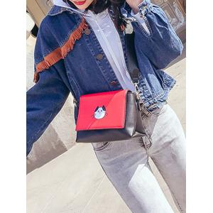 Color Block Flap Crossbody Bag -