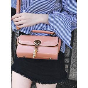 Stitching Flapped Crossbody Bag -