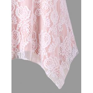 Plus Size Criss Cross Lace Handkerchief Tank Top -
