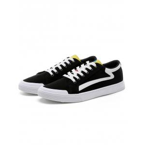Canvas Contrasting Skate Shoes -