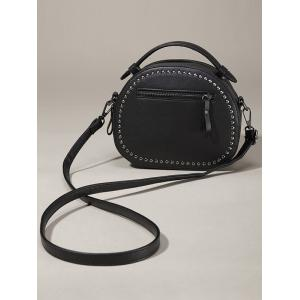 Vintage Studded Round Rivet PU Crossbody Bag -