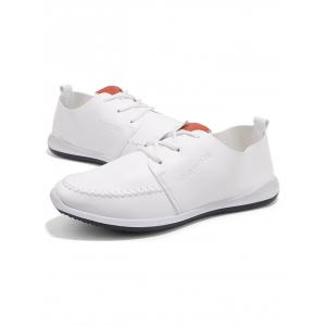 Stitch Toe Faux Leather Casual Shoes -