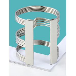 Simple Alloy Cuff Bracelet -