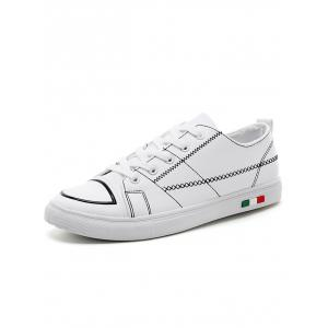 Stitch Detail Round Toe Skate Shoes -